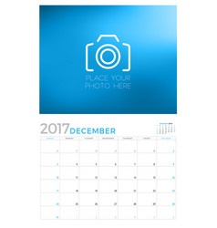 2017 wall calendar planner design template vector