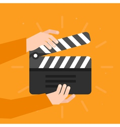 Movie clapper vector