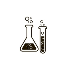 Laboratory glass vector