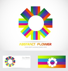 Abstract flower logo vector