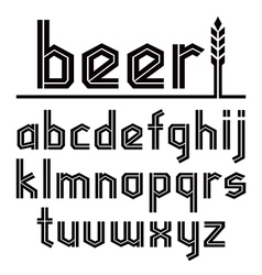 Sans serif decorative font beer vector