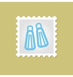 Flippers stamp vector