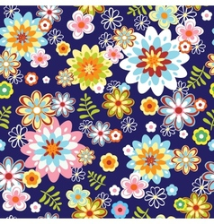 Cute abstract seamless floral pattern vector