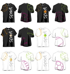 Sport t-shirts designs set vector