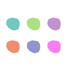 Colorful light round paint stains set isolated vector