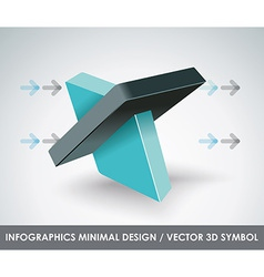 Abstract 3d symbol design template vector image vector image