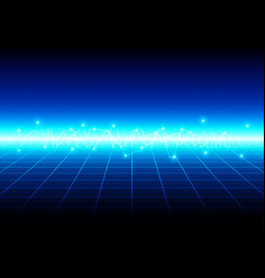 Abstract blue light with grid technology vector
