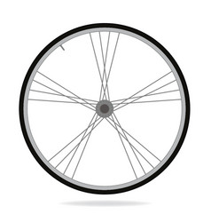 Bike wheel - on white backgrou vector