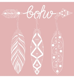 Bohemian Arrow on pink vector image vector image