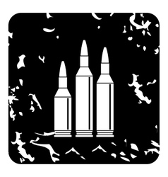 Bullets icon grunge style vector