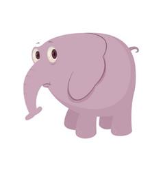 cartoon sad elephant vector image vector image
