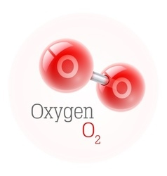 Chemical model of oxygen vector image