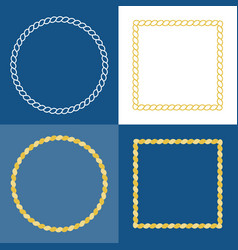 circle rope frame border vector image