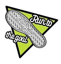 Color vintage run club emblem vector