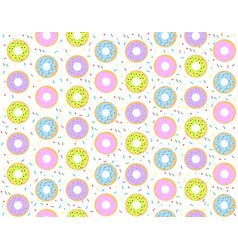 colorful donuts pattern vector image
