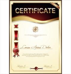 Elegant certificate template vector