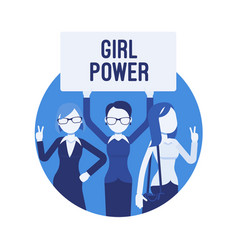 Girl power poster vector