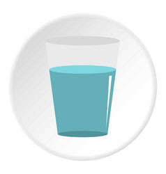glass water icon circle vector image