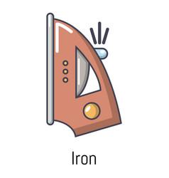 iron icon cartoon style vector image