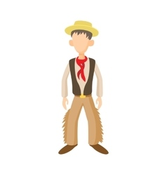 Man in traditional costume of Argentine icon vector image