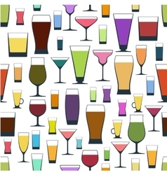 pattern of different glasses vector image vector image