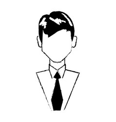 Portrair male person character vector