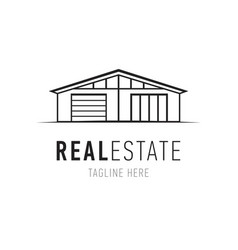 real estate logo design template house vector image vector image