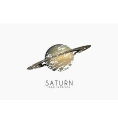 Saturn logo design Planet logo Cosmic logo vector image vector image
