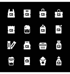 Set icons of package vector