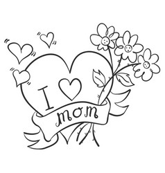 Style mother day hand draw vector