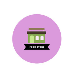 Stylish icon in color circle building grocery vector