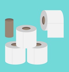 toilet paper flat icon modern flat icon set vector image