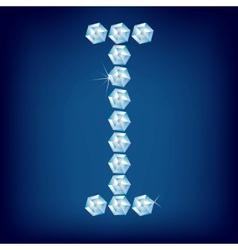 vector diamond alphabet letter i vector image vector image