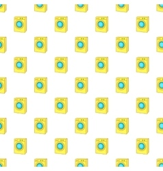 Washing machine pattern cartoon style vector