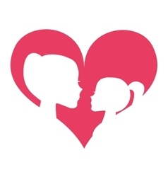 mother daughter silhoeutte icon vector image