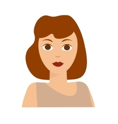 French woman flat vector