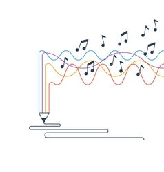 Creative writing and storytelling music creation vector