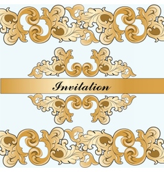 Royal imperial classic invitation vector