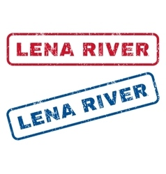 Lena river rubber stamps vector