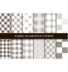 Collection of textile seamless patterns vector