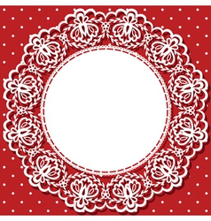 Card with lace and napkin vector