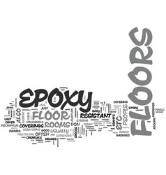 Why don t you choose an epoxy floor for your home vector
