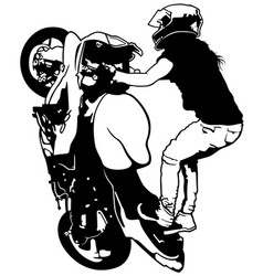 female stunt rider vector image