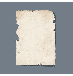 Torn sheet of old paper vector image