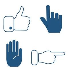 Social media hand icons vector image