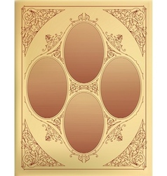 Card design with engraving organized by layers vector