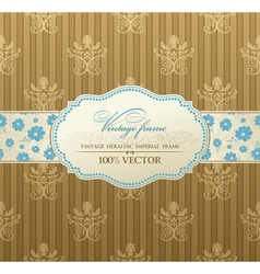 invitation vintage label vector frame vector image