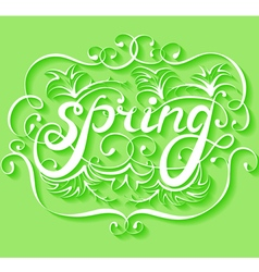 Spring lettering background vector
