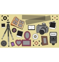 Hand drawn set of photography vector