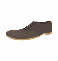 Male brown shoe icon cartoon style vector
